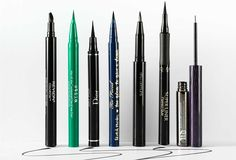 Get ready to fall in love with liquid eyeliner all over again Eyeliner For Almond Eyes, Simple Eyeliner, Best Eyeliner, How To Apply Eyeliner, Winged Eyeliner, Waterline Eye Liner, Eyeliner Shapes, Eyeliner For Beginners, Eye Liner Tricks