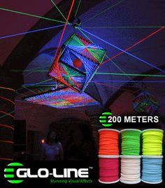 SW200M - Glo-Line™ UV Reactive Blacklight Luminescent Fluorescent Rope - 200 Meter Spool