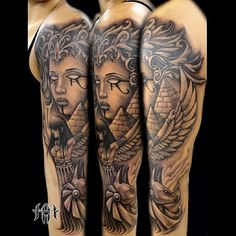 egyptian sleeve tattoo - Google Search