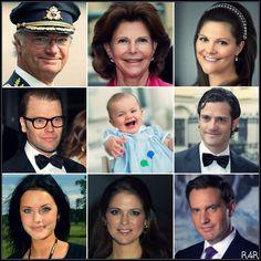 R4R Royal Rundown: Sweden: HM King Carl Gustaf:(b.1946) since 1973 HM Queen Silvia:(b.1943) queen consort  since 1976 HRH Crown Princess Victoria: (b.1977) heiress apparent, eldest daughter  HRH Prince Daniel:(b.1973) Victoria's husband since 2010 HRH Princess Estelle:(b.2012)  HRH Prince Carl Philip:(b.1979), only son Sofia Helqvist: (b.1984) girlfriend of Carl Philip since 2010 HRH Princess Madeleine: (b.1982) third child Christopher O'Neill: (b.1974) fiancé of Princess Madeleine