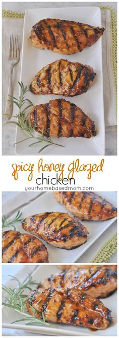 Spicy Honey Glazed Chicken - easy and delicious dinner solution.