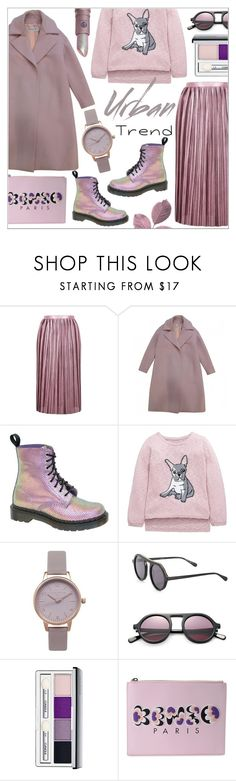 """""""Oversized Coat"""" by alexandrazeres ❤ liked on Polyvore featuring Topshop, Dr. Martens, Olivia Burton, STELLA McCARTNEY, Clinique, Lipstick Queen, Kenzo, lilac, fashionset and oversizedcoats"""