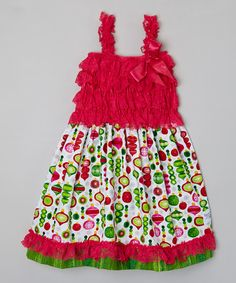 Look what I found on #zulily! Berry Ornament Ruffle Dress - Infant, Toddler & Girls by Baby & Me Designs #zulilyfinds