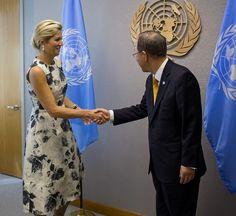 9-24-13.   Maxima meets UN Secretary-General.    MYROYALS &HOLLYWOOD FASHİON