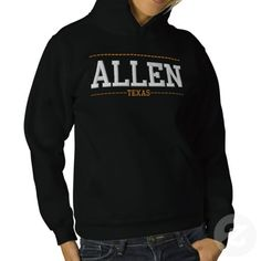 Allen Texas USA Embroidered Women's Hoodies