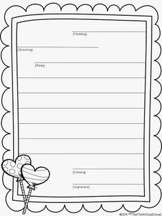 This friendly letter template helps guide the layout of a personal ...