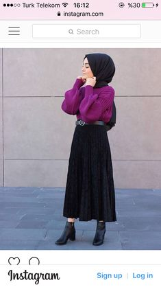 Teen Fashion Outfits, Grunge Outfits, Modest Fashion, Girl Fashion, Hijab Dress, Blouse Outfit, Hijab Outfit, Hijab Style, Hijab Chic
