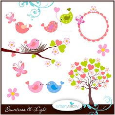 SWEETNESS & Light 9 piece clip art collection. Png by UrbanWillow Mais