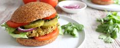 Chana Masala Burgers – Forks Over Knives Veg Recipes, Burger Recipes, Plant Based Recipes, Indian Food Recipes, Whole Food Recipes, Vegetarian Recipes, Dinner Recipes, Cooking Recipes, Healthy Recipes
