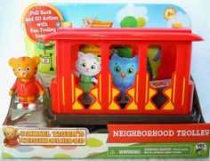 Daniel Tiger's Neighborhood Trolley + Figure Pull & Go Sounds #JakksPacific