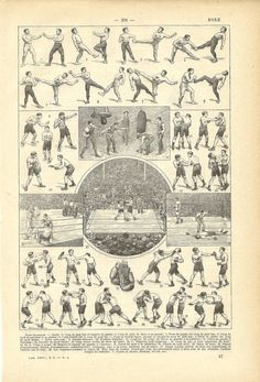 Vintage Boxing Poster. This is so awesome.
