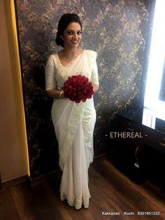 Christian Wedding Dress, Christian Bridal Saree, Christian Bride, Modest Wedding Gowns, Saree Wedding, Christian Weddings, Bridal Sarees, Wedding Prep, Wedding Bells