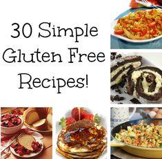 30 Simple Gluten Free Recipes!  SuperCouponLady.com