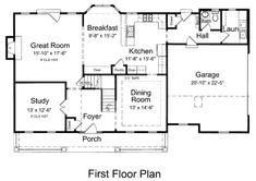 Cottage Style House Plan - 4 Beds 2.50 Baths 2659 Sq/Ft Plan #46-434 Floor Plan - Main Floor Plan - Houseplans.com