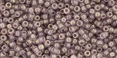 TR-11-Y628 TOHO - Round 11/0 : HYBRID Sueded Gold Transparent Amethyst Czech Glass Beads, Seed Beads, Amethyst, Crystals, Gold, Amethysts, Beaded Jewelry, Crystal, Beading
