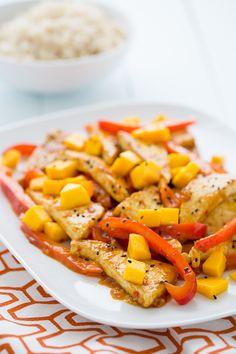 Mango Chili Tofu Stir Fry | Oh My Veggies