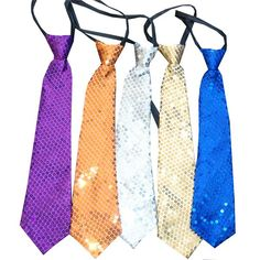 Corbatas de Colores Lentejuelas para fiestas muuuuuy divertidas! http://www.airedefiesta.com/product/6079/0/0/1/1/Corbata-Colores-Lentejuelas.htm