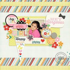 #papercraft #scrapbook #layout Donna Espiritu | Pink Paislee digital