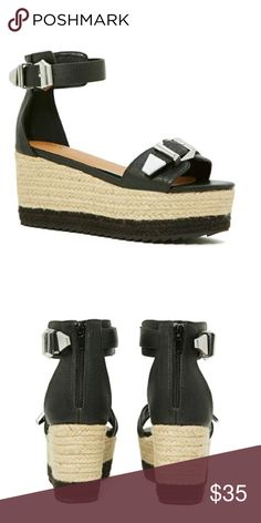 NWT Nasty Gal platform sandals Brand new! From Nasty Gal in-house design line Shoe Cult Nasty Gal Shoes Sandals