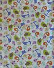 TWEET Fabri-Quilt Cotton Fabric Birds Novelty Blue Quilt Craft Apparel Sew SB101