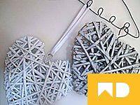 Srdíčka z papírových ruliček