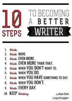 10 steps to better writing tips via www.Edutopia.org