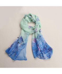 3c2e72ab1 Scarves & Wraps, Fashion Scarves, Women's Chiffon Dots Long Soft Neck Shawl  Scarves Blue