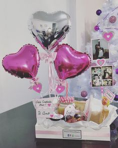 Baking Business, Diy Crafts For Gifts, Gift Baskets, Ideas Para, Snow Globes, Balloons, Presents, Valentines, Birthday