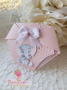 Diaper Invitations, Shower Invitations, Shower Party, Baby Shower Parties, Moldes Para Baby Shower, Baby Shower Invitaciones, Baby Shawer, Baby Shower Diapers, Pink Elephant