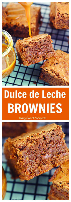 Dulce de leche brownies recipe - Ooey Gooey fudgy brownies are filled with dulce de leche & chocolate chunks. The perfect dessert for any occasion. More brownie recipes at livingsweetmoment. Brownie Recipes, Cookie Recipes, Dessert Recipes, Dessert Bars, Cake Flan, Tiramisu Cake, Easy Desserts, Delicious Desserts, Fudgy Brownies