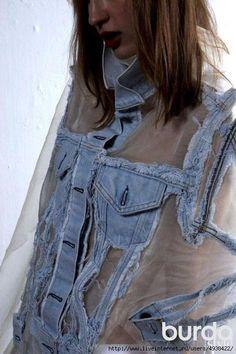 Оригинальная переделка джинсовки (Diy)