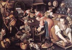 CAMPI, Vincenzo  Kitchen  1580s  Oil on canvas  Pinacoteca di Brera, Milan