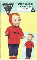 Bestway 3340 dolls clothes vintage knitting pattern