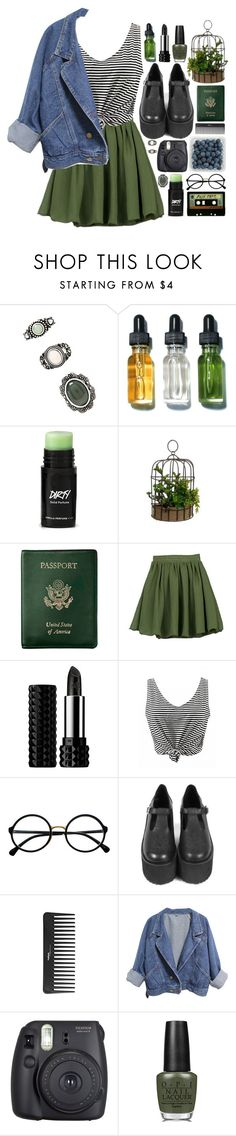 """""""Senza titolo #560"""" by fedeandrer ❤ liked on Polyvore featuring beauty, Forever 21, Bobbi Brown Cosmetics, Royce Leather, INDIE HAIR, Kat Von D, Retrò, Sephora Collection, Fuji and OPI"""