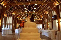 #wedding lights, a large #fairylight canopy at The Tudor Barn, lighting by Oakwood Events