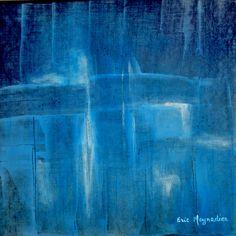 Blue wood - Pigment 52 cm x 52 cm