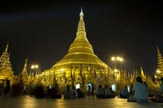 ❧ Buddhist devotees worship at the Shwedagon Pagoda during the celebrations of its 2600th anniversary in Yangon on March 1, 2012. (STR/AFP/Getty Images)