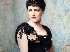 A Portrait of Lady Randolph Churchill nee; Jennie Jerome Mother of Prime Minister Sir Winston Churchill. Winston Churchill, Jennie Churchill, High Society, Women In History, British History, Gabrielle D'estrées, Agnes Sorel, Victorian Hairstyles, Art