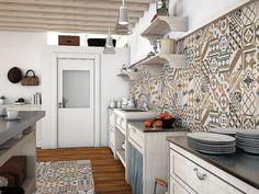 Baldosas cerámicas para la pared de la cocina, de Gala
