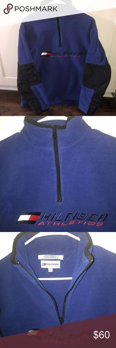 Tommy Hilfiger zip Tommy Hilfiger 1/4 zip fleece sweatshirt. Men's size medium. In perfect condition no flaws! This thing is awesome with the big hilfiger spell out across the chest and big logo! This is a must have! Tags: supreme bape yeezy Gucci vintage polo Ralph Lauren crew neck big flag champion shoes boxers socks Calvin Klein Nike adidas 1/4 zip hoodie fleece hat tommy jeans authentic and original air max under armour logo new balance Columbia north face puma Burberry Patagonia…