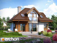 dom w jastrunach House Balcony Design, House Design, Cottage Homes, Cottage Style, Modern Architecture House, Architecture Design, Attic House, House Elevation, Dream House Plans