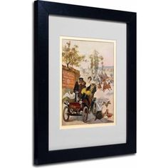 Trademark Fine Art Circus Star Kidnapped Canvas Art, Black Frame, Size: 11 x 14, Multicolor