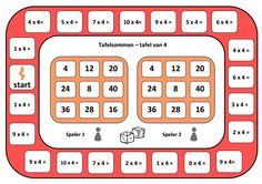 spelbord tafel van 4.pdf Speech Language Therapy, Speech And Language, Waldorf Math, Math Magic, Math Multiplication, Early Math, Math For Kids, Math Classroom, Teaching Math
