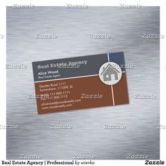 Real Estate Agency   Professional Magnetic Business Card