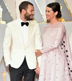 Jamie Dornan with his Beautiful wife Amelia Warner at the 2017 Oscar. What a beautiful Couple.