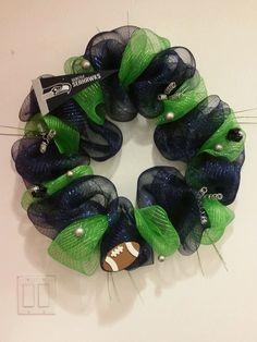 Seattle Seahawks Wreath by KaitysWreathShop on Etsy