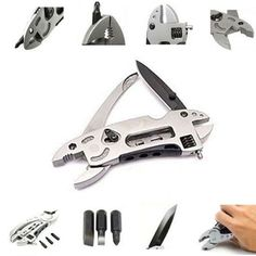 Outdoor Multitool pliers Adjustable Wrench Jaw hand tools +Screwdriver+Pliers+Knife Multitool knife Set Survival Gear BS