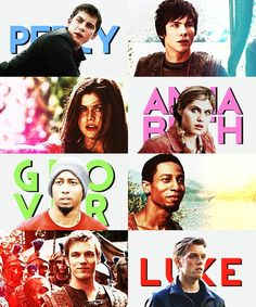 Percy Jackson. Annabeth Chase. Grover Underwood. Luke Castellan.