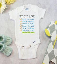 54a27aae0 Big Brother Pregnancy Announcement Onesies® Brand or Carter's® Bodysuit  Brother Shirt Sibling Pregnancy Reveal Promoted to Big Brother