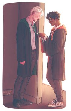 Image about harry potter in Drarry by kollhain Draco Harry Potter, Harry James Potter, Harry Potter Comics, Mundo Harry Potter, Harry Potter Ships, Harry Potter Universal, Harry Potter World, Harry Potter Anime, Drarry Fanart
